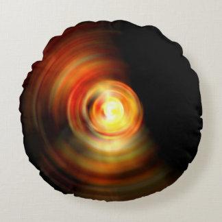 Descenso abstracto del fuego cojín redondo