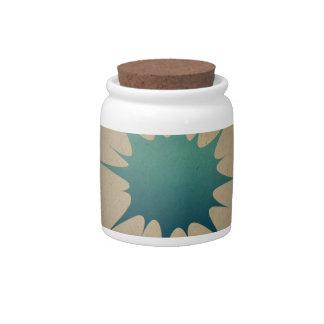 Descenso azul del agua en sepia retra del vintage jarras para caramelos