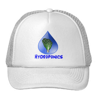 Descenso azul del lema del hidrocultivo con el grá gorros