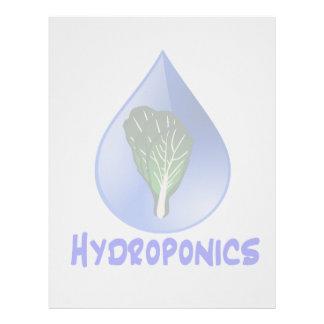 Descenso azul del lema del hidrocultivo con el grá plantillas de membrete