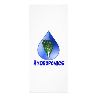 Descenso azul del lema del hidrocultivo con el grá tarjeta publicitaria personalizada