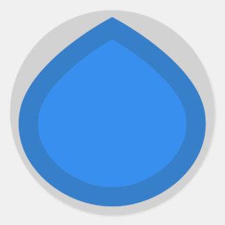 Descenso azul pegatina