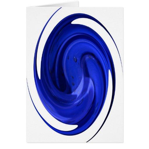 descenso azul tarjeta de felicitación