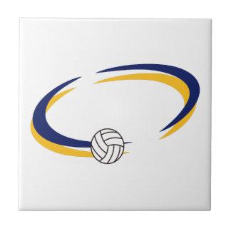 Descenso conocido del voleibol azulejo cuadrado pequeño