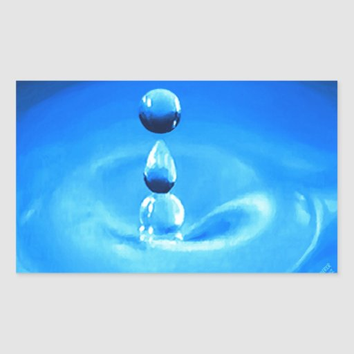 Descenso de H2O Pegatina Rectangular