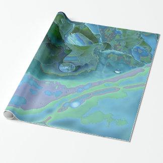Descenso de rocío esmaltado papel de regalo