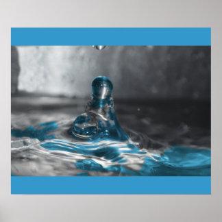 descenso del agua azul póster