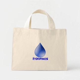 Descenso del agua del logotipo del hidrocultivo e  bolsa