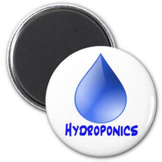 Descenso del agua del logotipo del hidrocultivo e  imán redondo 5 cm