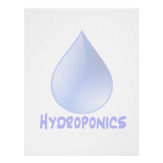 Descenso del agua del logotipo del hidrocultivo e  membrete a diseño