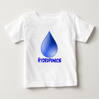 Descenso del agua del logotipo del hidrocultivo e playera