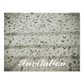Descenso del agua en una ventana invitación 10,8 x 13,9 cm