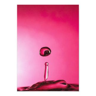 Descenso del agua invitación 12,7 x 17,8 cm