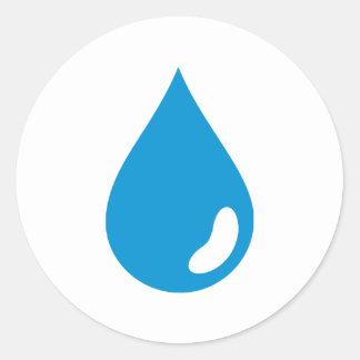Descenso del agua etiquetas redondas