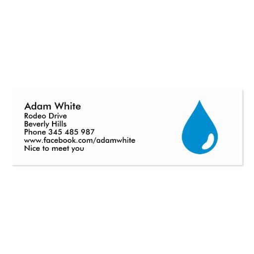 Descenso del agua tarjetas de visita mini