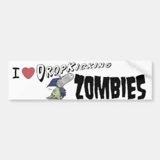 Descenso del corazón I que golpea a zombis con el  Pegatina Para Auto
