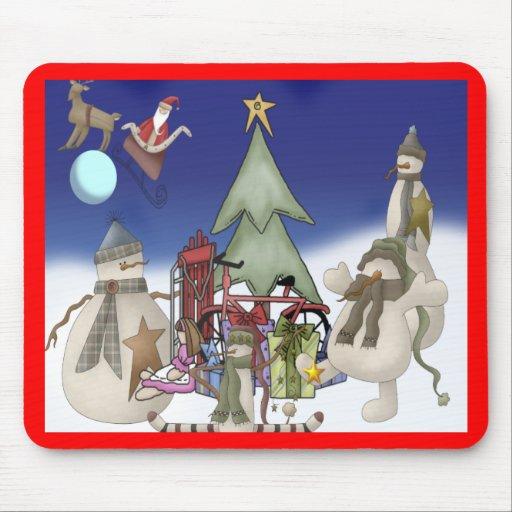 Descenso del navidad de Santas Alfombrillas De Raton