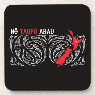 Descenso del Pin del mapa de Taupo Aotearoa Posavasos De Bebida