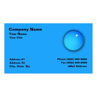 Descenso grande del agua tarjeta de negocio