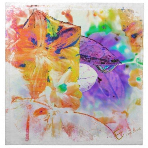 Descenso púrpura del agua servilleta