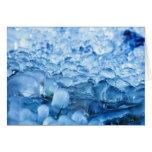 Descensos abstractos azules del agua de los tarjeta pequeña