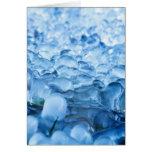 Descensos abstractos azules del agua de los tarjeta de felicitación