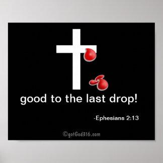 Descensos de la cruz de gotGod316.com de la sangre Póster