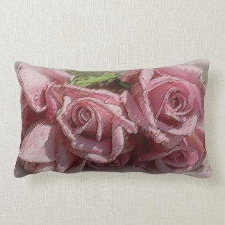 Descensos de rocío rosados clásicos brillantes de cojin