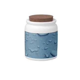 Descensos del agua azul jarras para caramelos