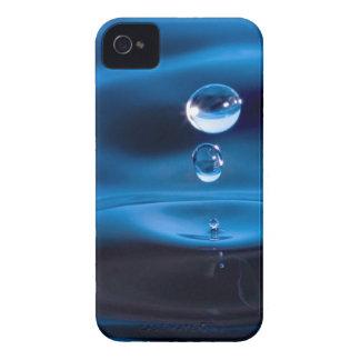 Descensos del agua azul iPhone 4 cárcasas
