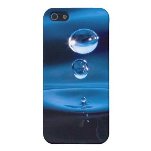 Descensos del agua azul iPhone 5 protectores