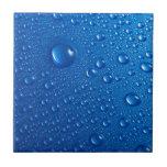 Descensos del agua azul teja  ceramica