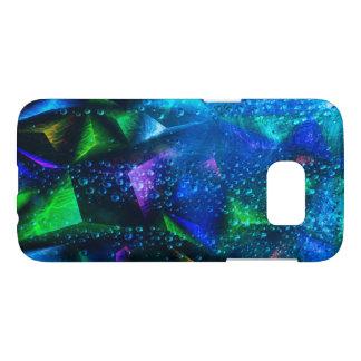 Descensos del agua en un fondo abstracto colorido funda samsung galaxy s7
