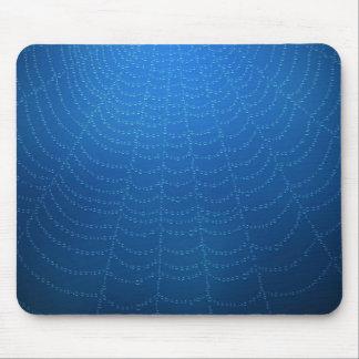 Descensos del agua en una tela de araña (azul) tapete de ratón
