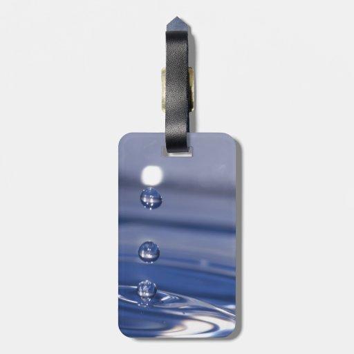 Descensos del agua etiquetas maleta