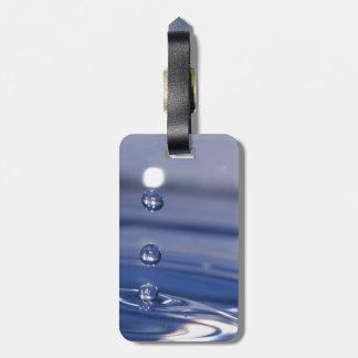 Descensos del agua etiquetas para maletas