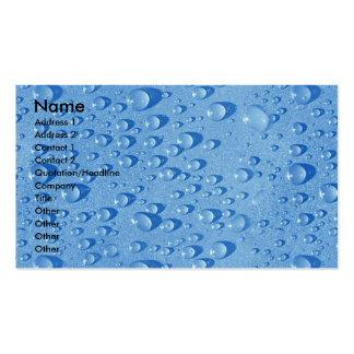 Descensos del agua tarjetas de visita