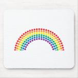 Descensos del arco iris alfombrillas de ratón