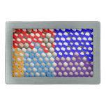 DESCENSOS DEL ARCO IRIS: Modelos de punto colorido Hebillas De Cinturon Rectangulares