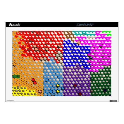 DESCENSOS DEL ARCO IRIS: Modelos de punto colorido Skins Para Portátil