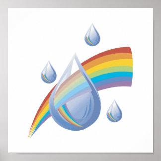 Descensos del arco iris póster