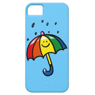 Descensos del paraguas y de la lluvia del arco iri iPhone 5 carcasa