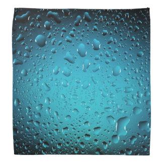 Descensos frescos elegantes del agua azul