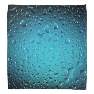 Descensos frescos elegantes del agua azul bandanas