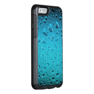 Descensos frescos elegantes del agua azul funda otterbox para iPhone 6/6s