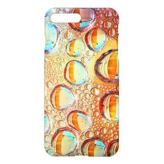 Descensos macros coloridos del agua en la foto de funda para iPhone 7 plus