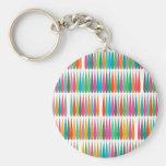 Descensos multicolores abstractos del arte pop llavero personalizado