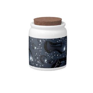 Descensos negros del agua jarra para caramelo