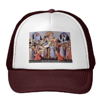 Descent From The Cross By Angelico Fra Trucker Hat