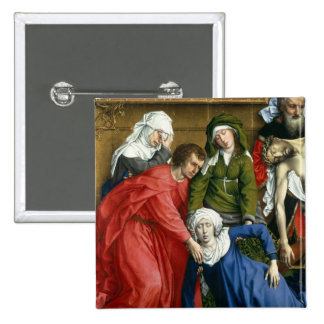 Descent from the Cross, c.1435 2 Inch Square Button